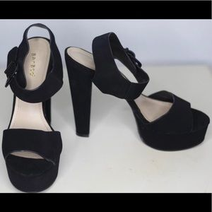 Exotic Black Open Toe Stiletto High Heels.